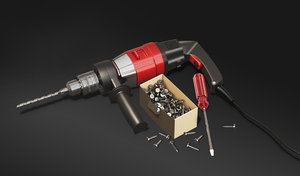 cordless drill 3D