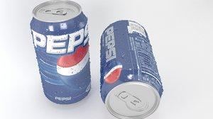 3D drink pepsi model