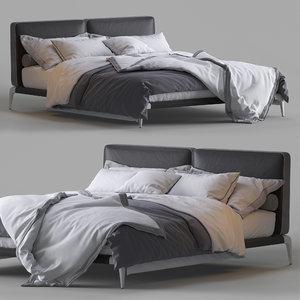 poliform bed park uno 3D model