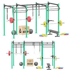 crossfit sport equipment 3D model