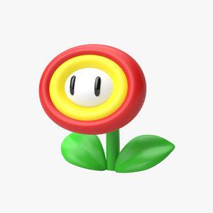 super mario flower 3D model