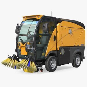 compact road sweeper 3D model