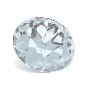 3D ruby cut diamond sapphire