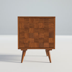 wood wooden vintage 3D model
