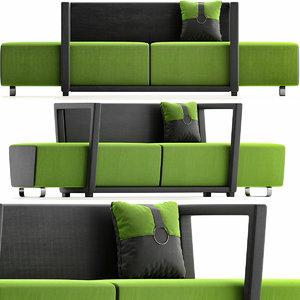 3D furniture sofa seat