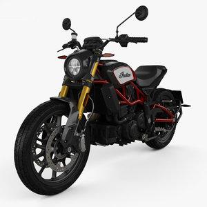 3D model indian ftr 1200