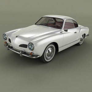 3D model karmann-ghia typ 14
