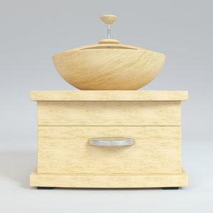 wood wooden grinder 3D model