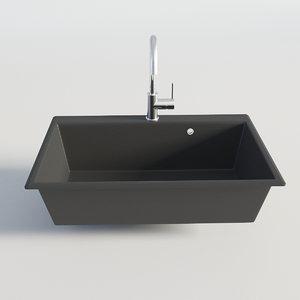 3D kitchen sink single