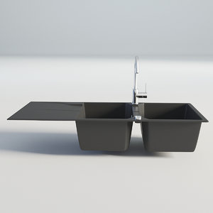 3D kitchen sink double model