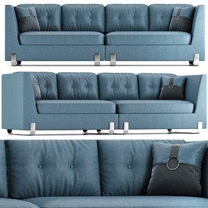 furniture sofa pillow 3D model