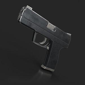 gun usp 3D model