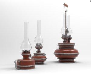 3D kerosene lamps model