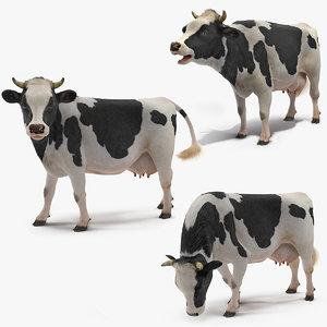cow farm animal 3D model
