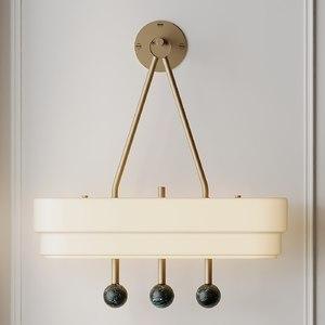 3D spate wall light bert model