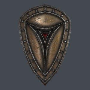 3D fantasy shield 6 modeled