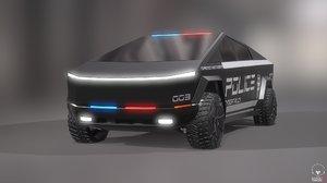 cybertruck police car model