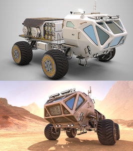 marsohod rover 3D model