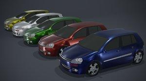 3D hatchback car generic
