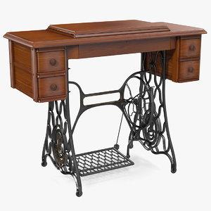 antique sewing machine cabinet model