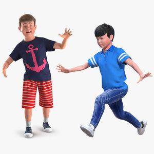 teenage boys rigged teen 3D model