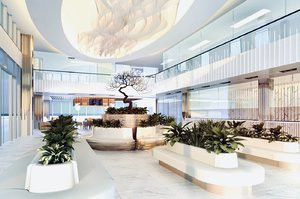 3D terminal lobby interior