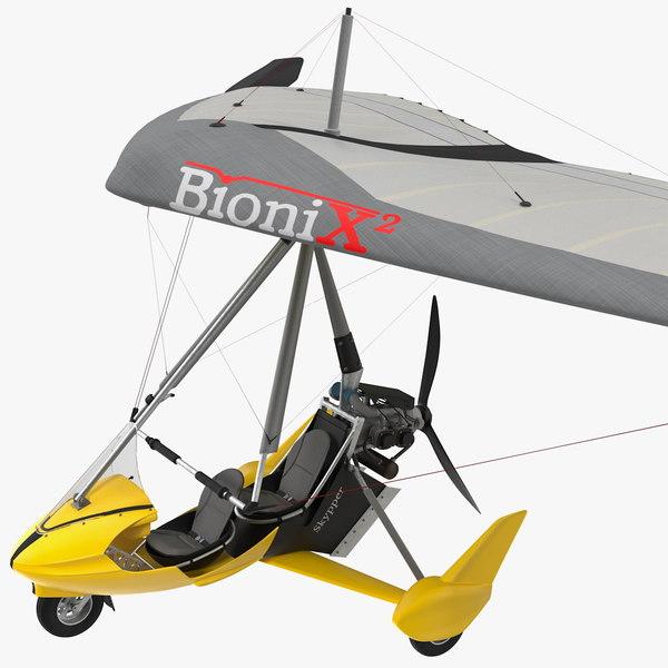 tandem ultralight trike wing 3D model
