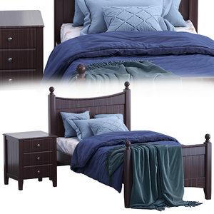 3D angel single bed 2