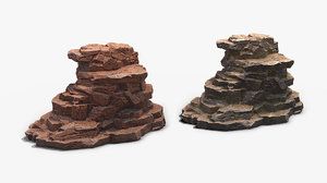 rock pbr 3D model