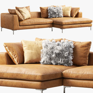 roveconcepts hugo sectional sofa 3D model