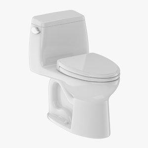 3D model toilet piece one-piece