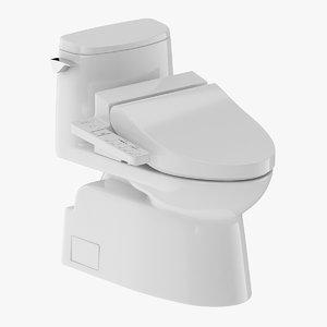 3D toilet piece one-piece