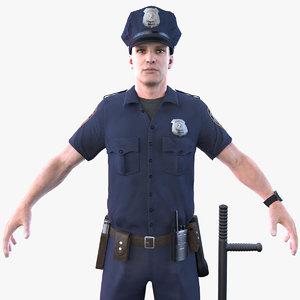 3D police officer 2020 pbr