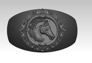 3D horse ring model