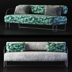 3D settee sofa couch