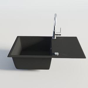 3D model kitchen sink single