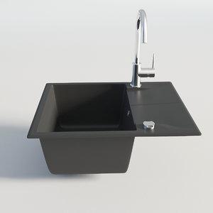 3D kitchen sink single model