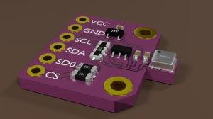 electronic sensor pcb 3D
