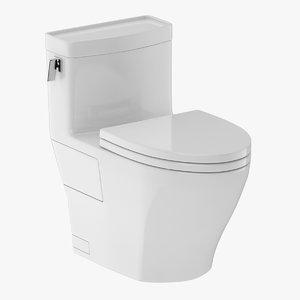 toilet piece one-piece 3D model