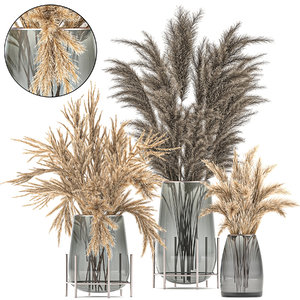 3D decorative bouquet dried flowers