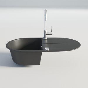 kitchen sink black 3D model