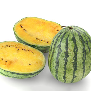 3D watermelon yellow