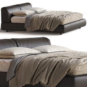 poliform bed bolton 3D model