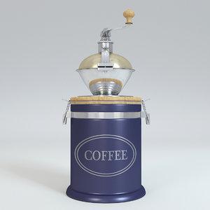 coffee grinder blue 3D model
