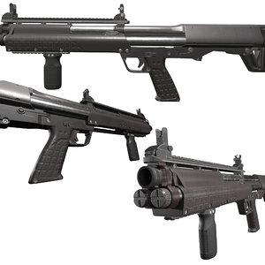 kel tec ksg12 shotgun 3D model