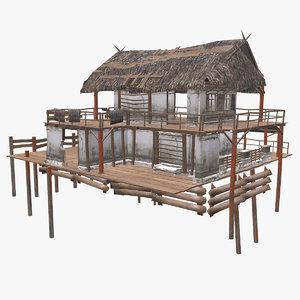 swamp house pbr 3D model