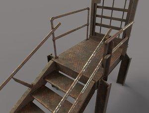 rusty metal entrance 3D model