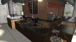 3D coffee shop model