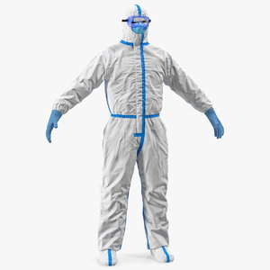 3D disposable isolation suit