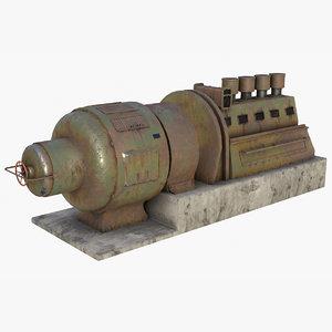 asset german power generator 3D model